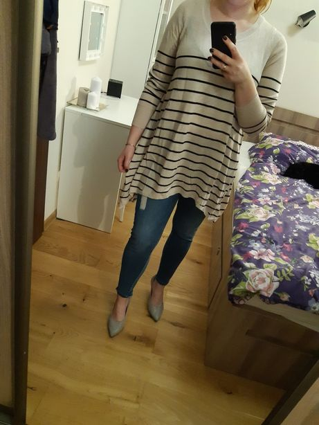 Luźny sweterek h&m, 38