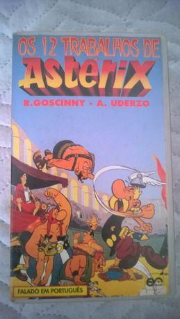 VHS Os doze trabalhos de Asterix dobrado em português do Brasil