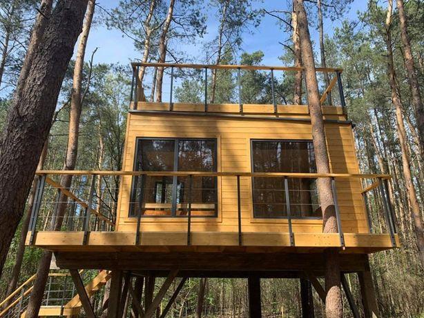 Domek nad jeziorem do wynajęcia blisko Warszawy Na drzewie 12os Jacuzi