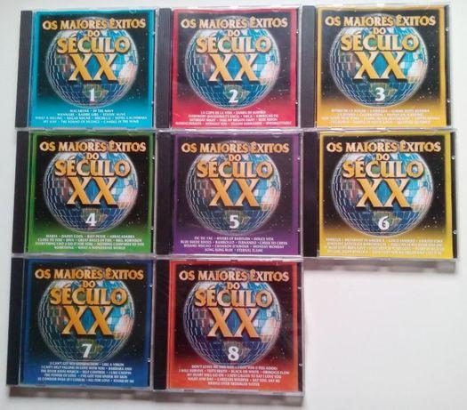 conjunto de 8 CD dos maiores êxitos musicais do século 20