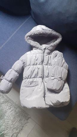 Kurtka zimowa dziewczęca 86 cm