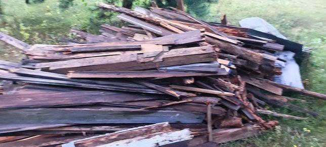 Drewno z rozbiórki opał