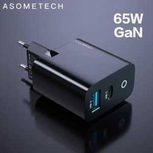 Премиум GAN зарядка 65W Asometech для всех устройств цена МИНИМАЛЬНАЯ!
