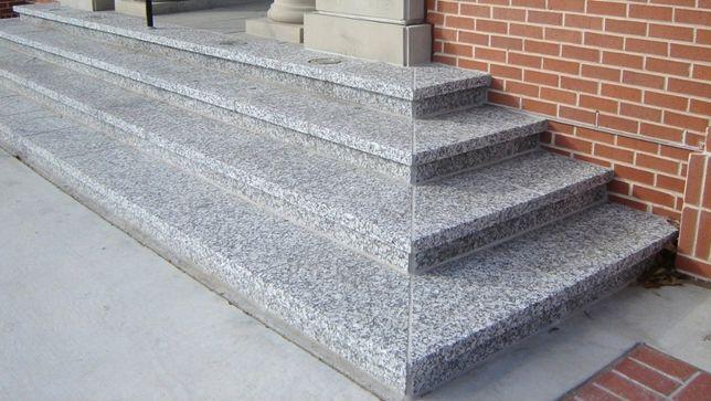 stopnie granit szary 150x33x2 płomieniowane schody