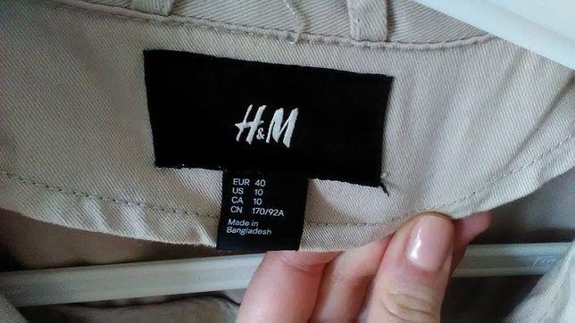 Sportowa kurtka H&M rozmiar 40 ecru kremowa stan bdb kurteczka wiosna