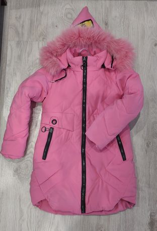 Куртка зимова на дівчинку 6-8років