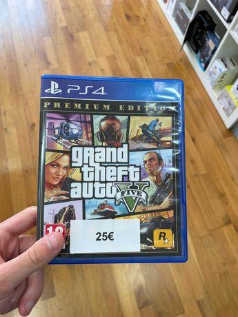 GTA V PREMIUM EDITION   PS4 - Usado