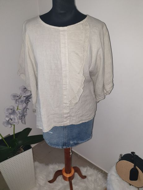 Piękną lniana bluzka Minouu Rozmiar uniwersalny