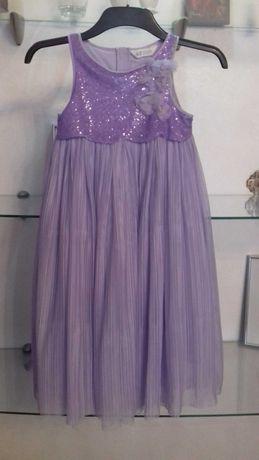 Платье нарядное 7-8л лет h&m