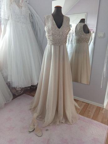Suknia ślubna -wieczorowa 42-44