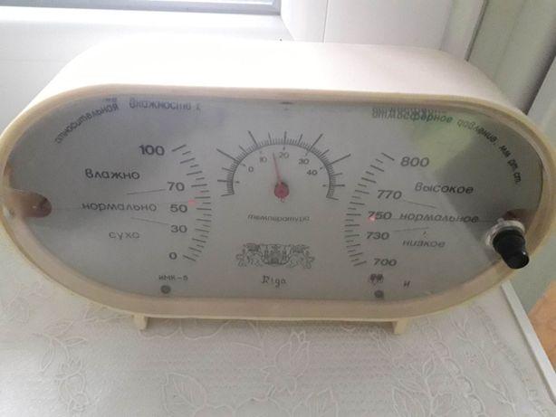 Термометр - барометр Индикатор микроклимата СССР имк-5 Рига