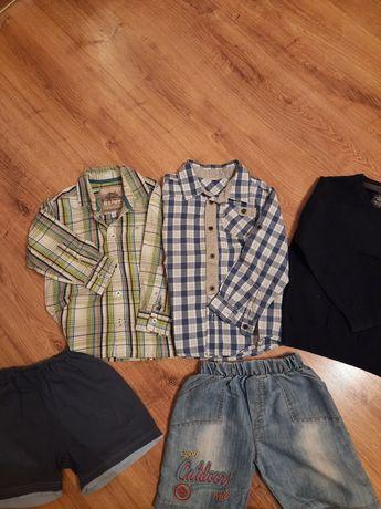 Koszule sweterek spodenki 98