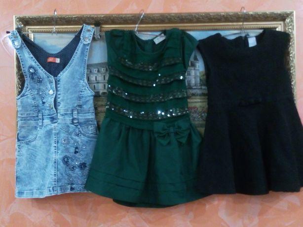 Джинсовий сарафан, плаття, платьице одяг одежда дитяче