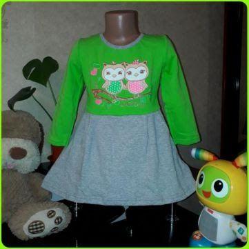 Платье с начесом для девочки 3 лет