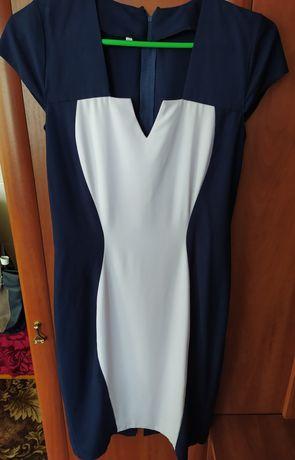 Платье летнее синее