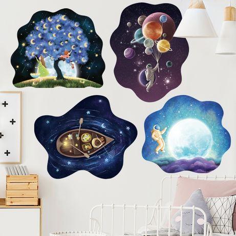 Интерьерная наклейка на стену обои Космос гравюры