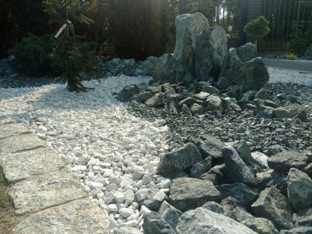 Kamień zielony serpentynit do gabionu gabionowy łupek granitowy grys