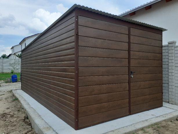 Garaż blaszany 3x5 Drewnopodobny