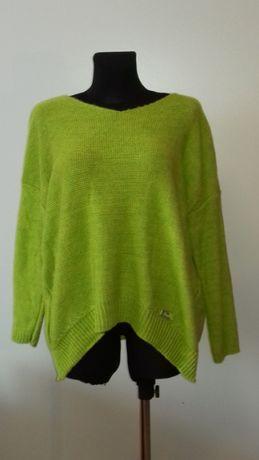Sweter damski zielony, nowy, rozmiar uniwersalny, okazja, najtaniej