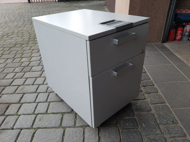 Kontenerek biurowy mobilny 2 szuflady, 57x42x60mocna, bdb stan