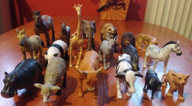 Zabawki zwierzęta-domowe, dzikie.