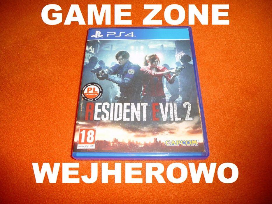 Resident Evil 2 PS4 + Slim + Pro = PŁYTA PL Wejherowo Wejherowo - image 1