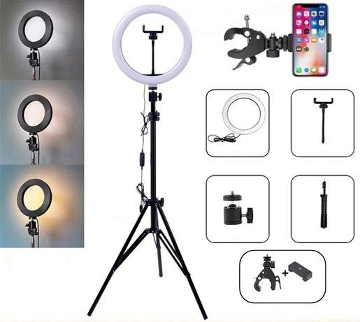 Кольцевая лампа со штативом на 2м для телефона селфи кольцо 26 см