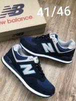 New Balance 574. Rozmiar 44. Kolor granatowy. Najtaniej.