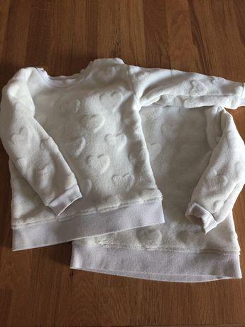 Bluzy sweteki h&m dla bliźniaczek rozm. 86