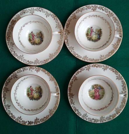 Taças café antigas Porcelana Limoges