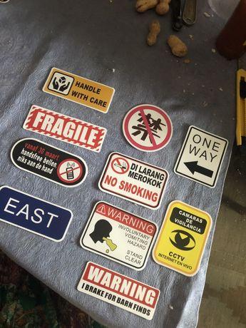 Autocolantes stickers sinais novos bicicleta ou skate
