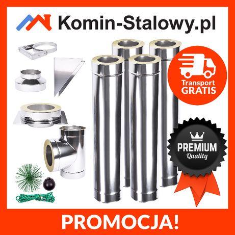 KOMIN Stalowy Izolowany Zewnętrzny Fi 160/220 4 m gr. 0,6 mm Producent