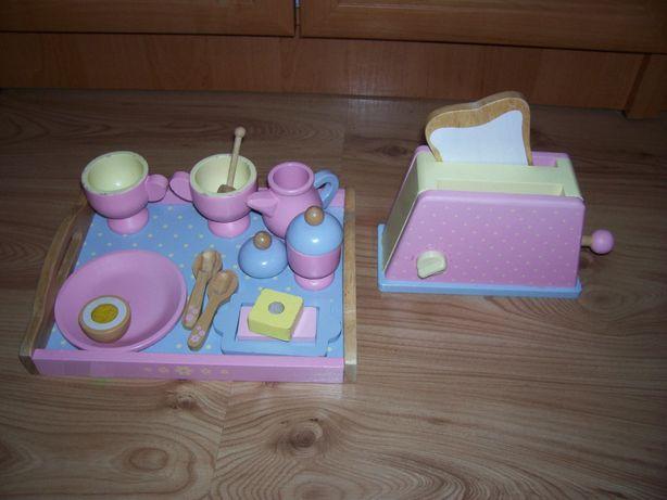 Drewniany zestaw śniadaniowy dla lalek
