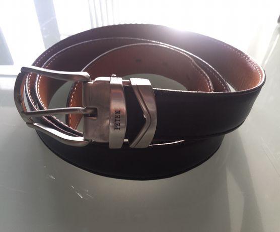Ремень кожаный Tony Perotti с пряжкой Petek