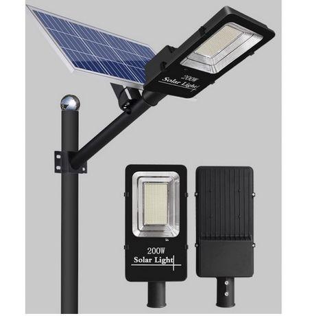 Lampa Latarnia Uliczna SOLARNA LED200W+PILOT+CZ.ZM