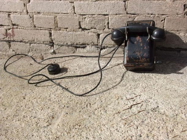 Stary telefon na korbę lata 60-te - antyk