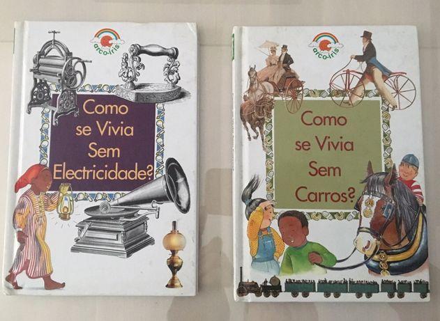"""Livros """" Como se vivia """" - Novo"""