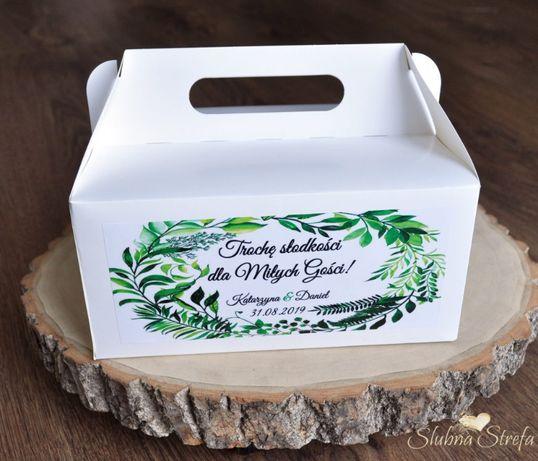 Pudełka na ciasto weselne pojemniki na ciasto ślub wesele