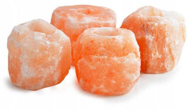 Świecznik Solny naturalna sól himalajska na 1 podgrzewacz 4szt ! PROMO