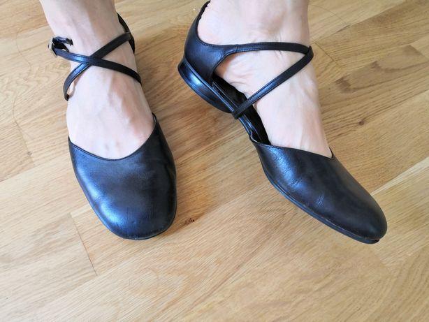Buty 36 skórzane baletki balerinki opus