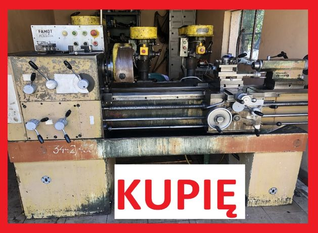 Maszyny do metalu KUPIMY tokarka wiertarka stołowa frezarka piła prasa