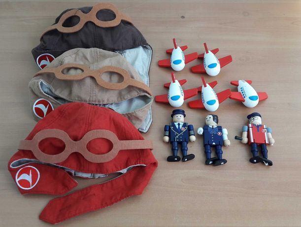 Игрушки экологически чистые деревянные куклы шапка пилотная