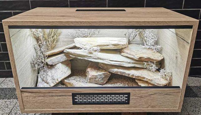 Terrarium naturalne nr21 70/40/40 dla gekona lamparciego DOSTĘPNE