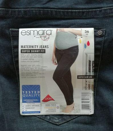 Nowe spodnie ciążowe jeansy dla przyszłej mamy Esmara rozmiar S 36