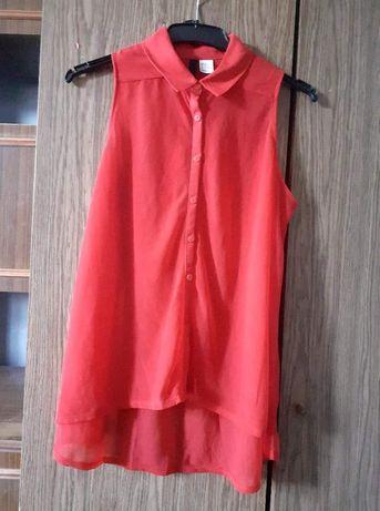 Oddam czerwoną koszulę mgiełkę H&M