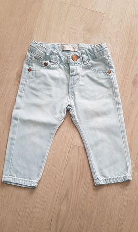 Spodnie dżinsy chłopięce Zara r. 74