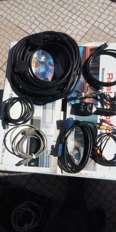 Cabo SCART de 5metros e outros cabos de ligação HDMI VGA e outros