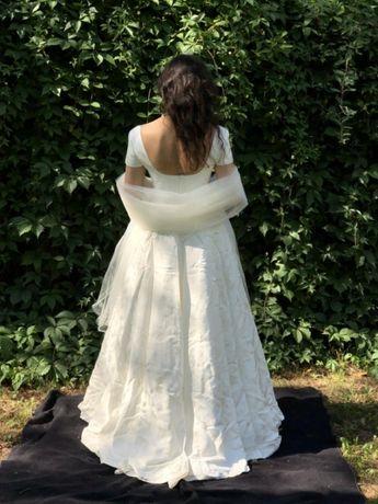 Suknia ślubna, welon ecru Cymbeline
