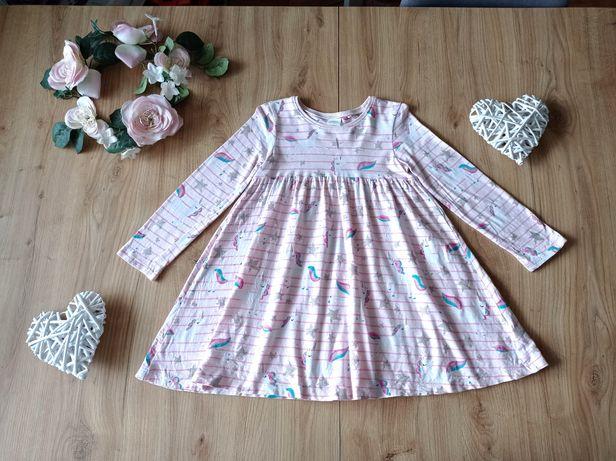 Next sukienka w jednorożce z brokatem 104 idealna