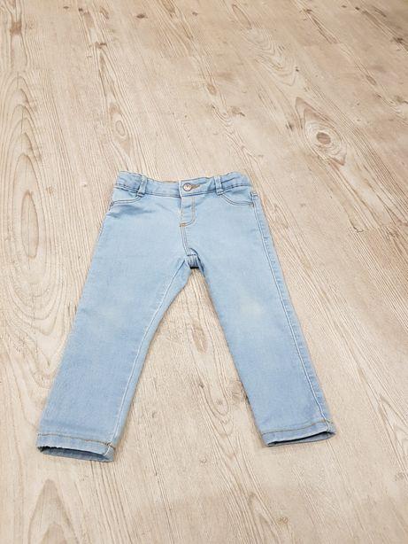 Spodnie jeansy zara roz.92